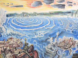 Carl Abrahams - The Destruction of Port Royal (1972), AD Scott Collection, NGJ