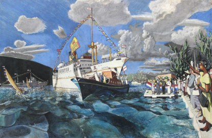 Michael Lester - The Arrival of Queen Elizabeth II (1953), Collection: NGJ