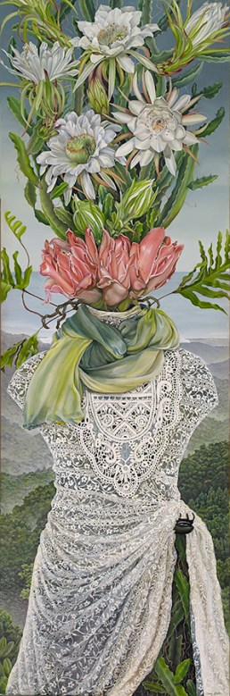 Amy Laskin - Queen of Her Domain with Blooming Cereus (2015)