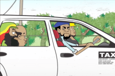 "Alison Latchman, Anieph Latchman, & Marlo Scott - Cabbie Chronicles ""Drive Thru Drama"" (2010, animation still)"