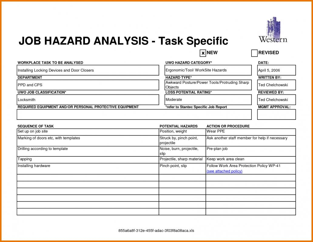 Ppe Assessment Worksheet