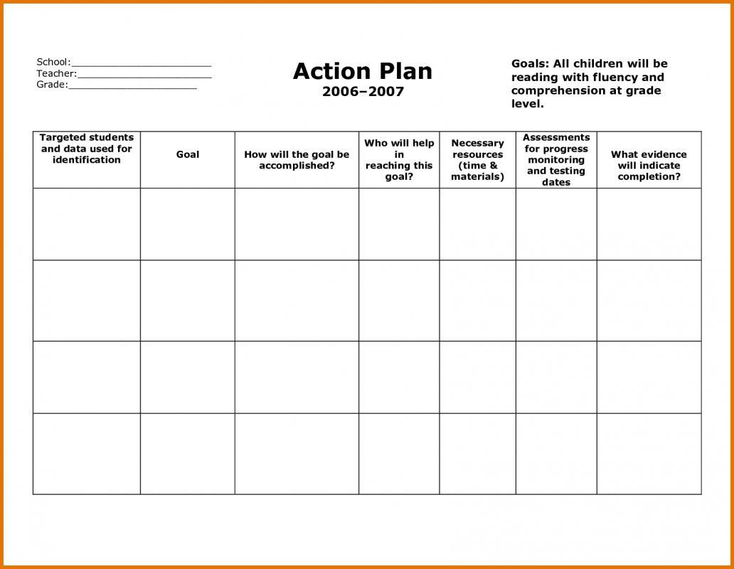 Pre School Work Progress Report Template
