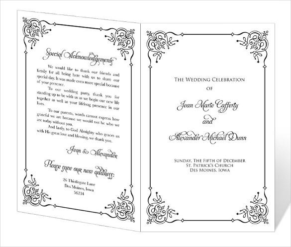 Wedding Program Free Download Dokya Kapook Co