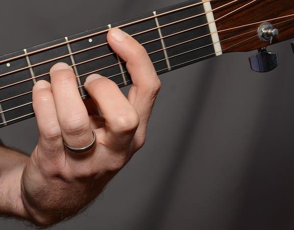 Image result for pressing guitar strings