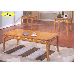 3 pc oak coffee end table set 6169 a