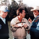 George Bush and George W Fishing with Ray Scott