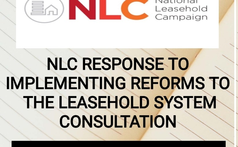 NLC RESPONSE TO LEASEHOLD CONSULTATION.