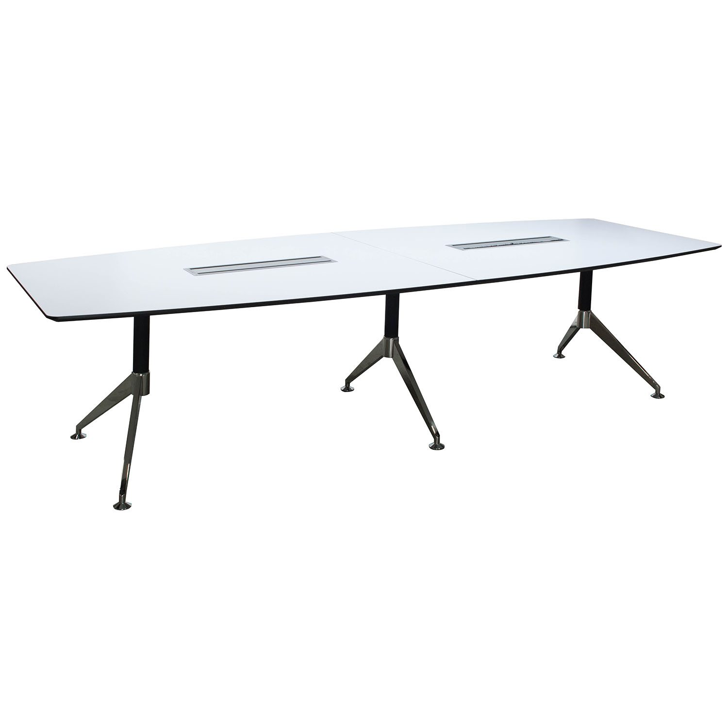Morgan 10 Foot Melamine Boat Shaped Conference Table