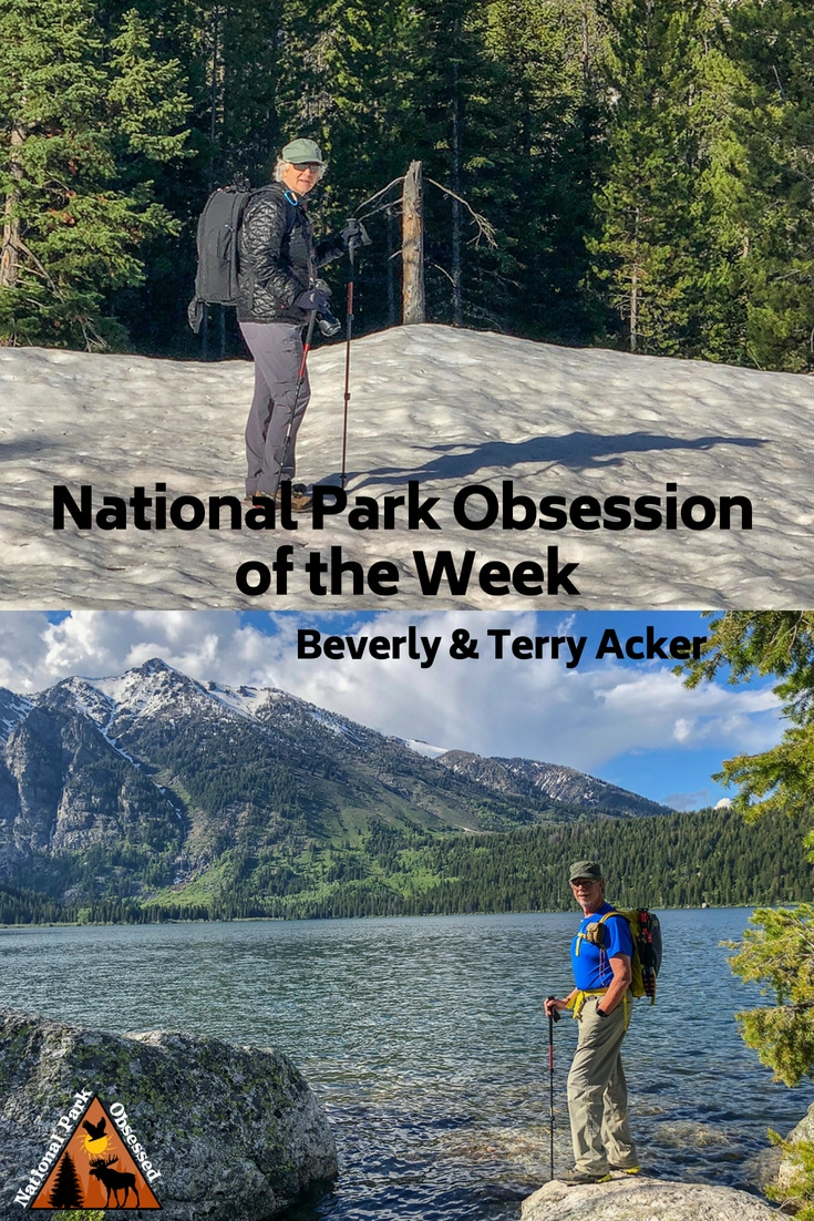 Learn about National Park Obsessed Community members Beverly & Terry Acker.  They were married in Grand Tetons with a witness who happened to be there. #Nationalparkobsessed #nationalparks #nationalpark #findyourpark