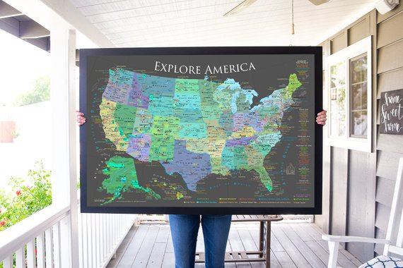 Epic US National Park Wall Maps to help you keep track of