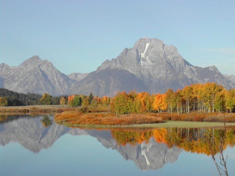 Grand Teton in fall colors