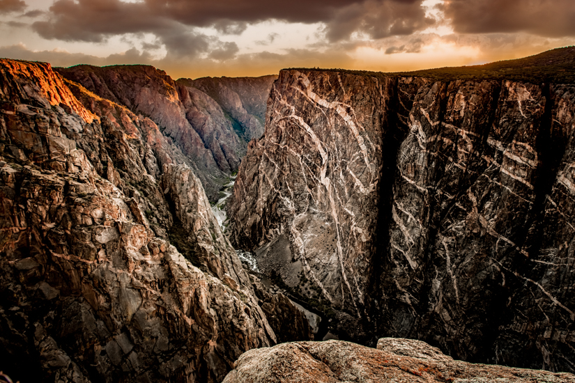 Sunset over the Painted Wall at Black Canyon of the Gunnison National Park #nationalparkphotographer