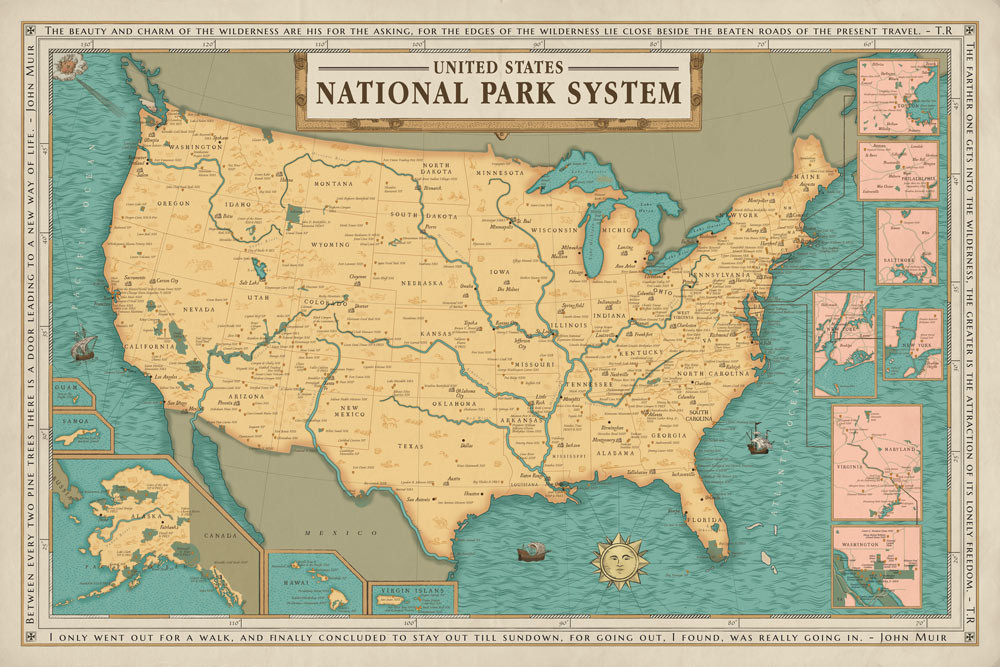 Our Grandest National Park Map Yet National Park Quest