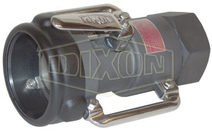 Dixon Bayonet Style Dry Disconnect Straight Swivel Coupler x Female NPT