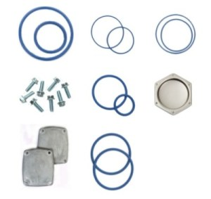 BLUE FLUOROSILICONE SEAL & COVER KIT FOR WAYNE® 2PM METER