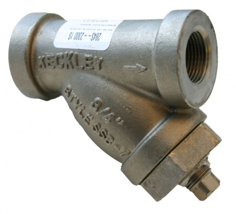 Morrison Bros 284S Stainless Bottom Clean Out Line Strainer