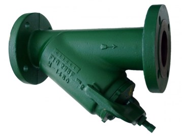 Morrison Bros 285FDI Bottom Clean-Out Line Strainer - Flanged, Ductile Iron