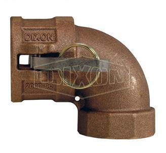 "1.25"" Brass 90° Type D Coupler x Female NPT Elbow"
