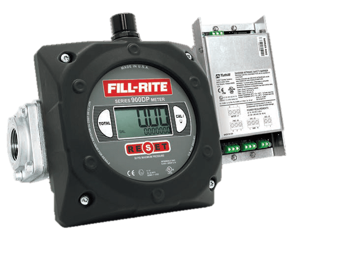 "Fill-Rite 900CDP1.5BSPT 1.5"" Digital Display Meter with Pulser Barrier, BSPT Threaded"