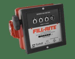 """Fill-Rite 901CL1.5 1.5"""" 4 Wheel Mechanical Liter Meter"""