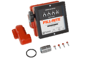 """Fill-Rite 901CLMK300 1.5"""" 4 Wheel Mechanical Meter with Fittings"""