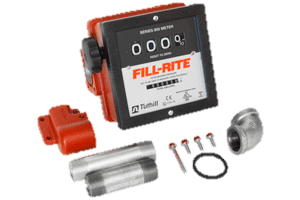 """Fill-Rite 901CMK4200 1"""" 4 Wheel Mechanical Meter with Fittings"""