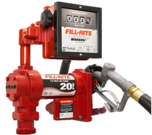 Fill Rite FR4211GL 12 Volt DC High Flow Pump with Hose, Manual Nozzle and Liter Meter