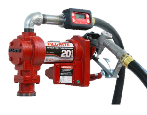 Fill Rite FR4219G 12 Volt DC High Flow Pump with In-line Digital Turbine Meter