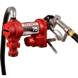 Fill Rite FR4410H 24 VDC High Flow Pump with Hose and Manual Nozzle