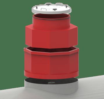 "Bravo 42"" Diameter Singlewall Collar-Mount Tank Sumps with Lid"