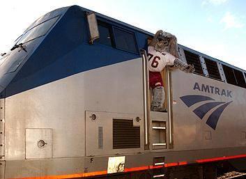 Saluki,Amtrak,train, mascot,Southern Illinois University