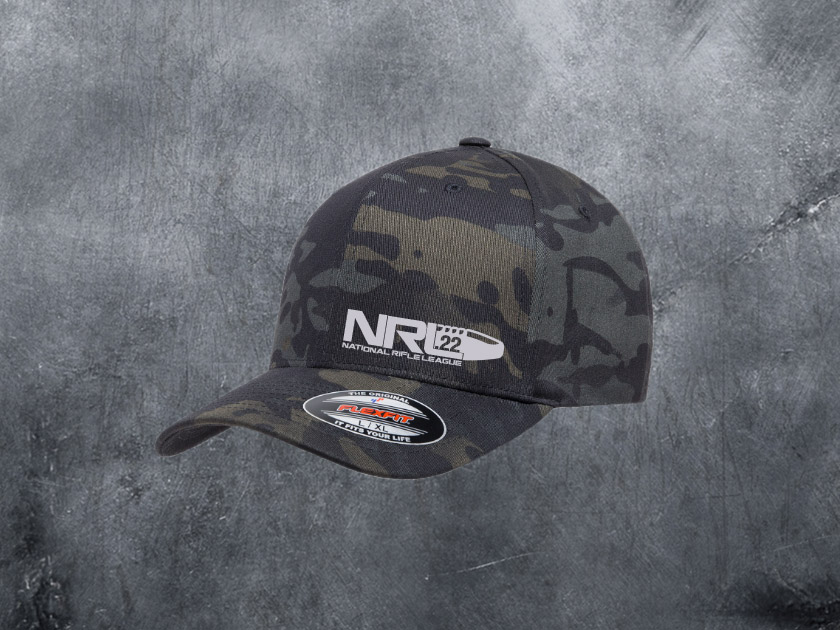NRL22 BLACK MULTICAM FLEXFIT HAT - National Rifle League bc072dc3f2f
