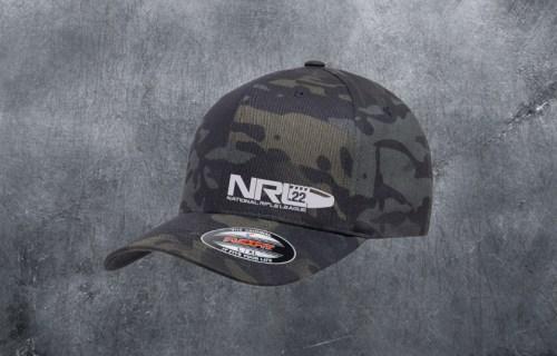 NRL22 BLACK MULTICAM FLEXFIT HAT