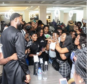 BBNaija: Mike Receives Gifts At His 'Meet And Greet' Party In Lekki