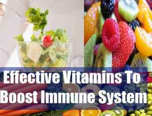 Vitamins That Boost The Immune System