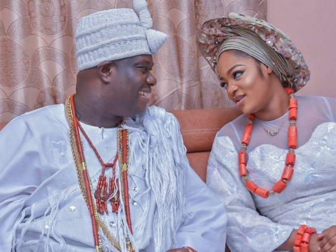 Ooni of Ife welcomes son with wife
