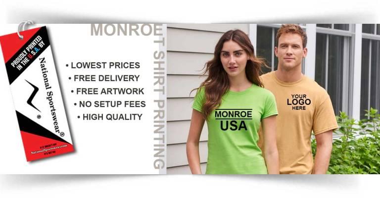 t-shirt printing in Monroe