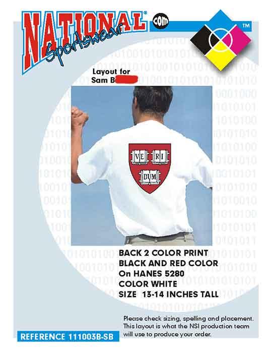 Yale t-shirt printing company