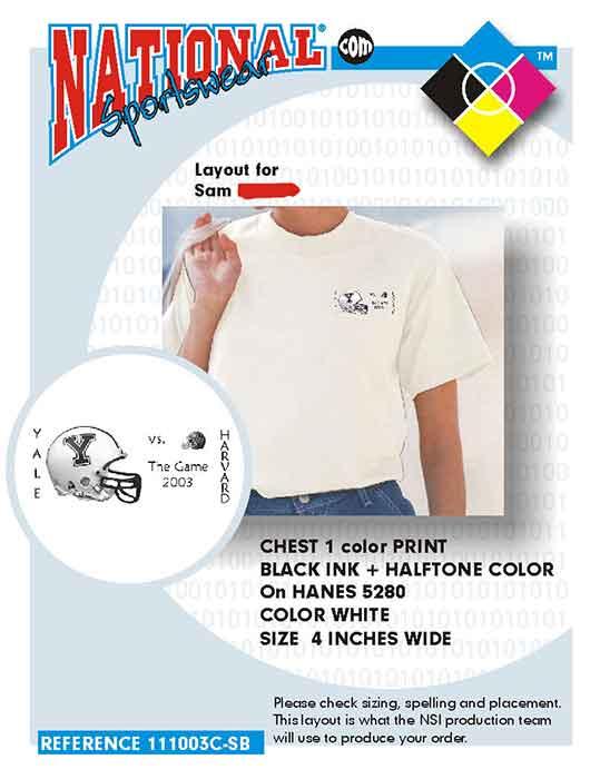 yale t-shirt printing