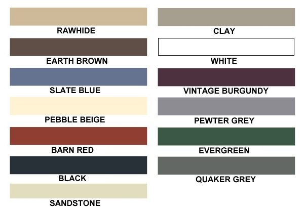 Carports America Color Selections