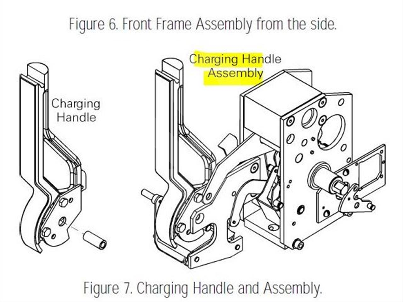 General Electric Ge Manual Charge Handle Assembly