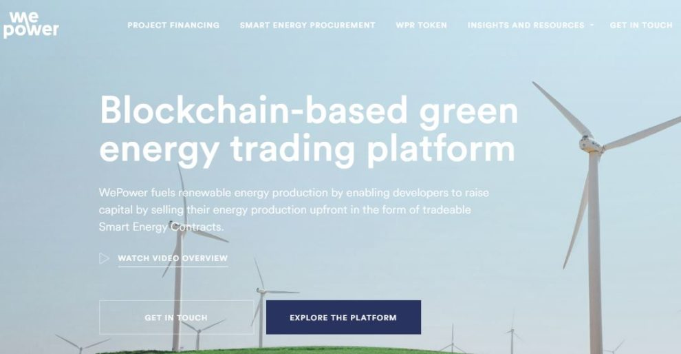 WePower to be the first Blockchain Firm to Tokenize an Entire Grid