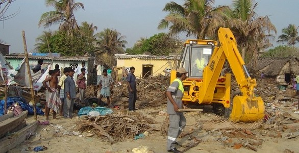 Jcb help flood victims
