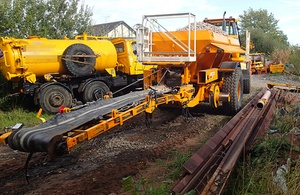 Collision road-rail vehicles (RRVs) in Cheshire
