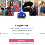 Carpenters £85k a year