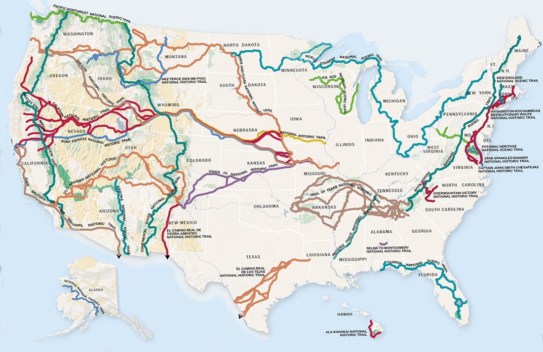 Image result for national scenic trails