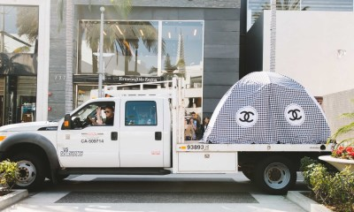 This Artist Is Trolling 'Skid Rodeo Drive' With Chanel and Gucci-Branded Homeless Tents