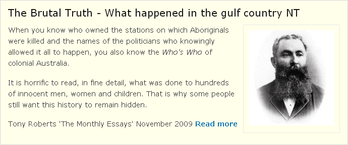The Brutal Truth - What happened in the gulf country NT