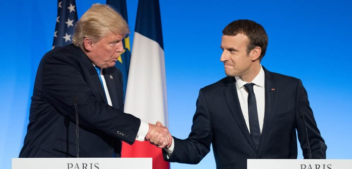 Macron and Trump Clash over NATO
