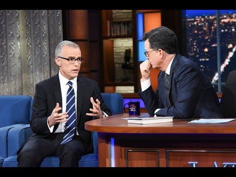 FBI MCCABE LIES TO STEPHEN COLBERT ABOUT STEELE DOSSIER ROLE IN TRUMP RUSSIA PROBE